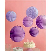 Martha Stewart Crafts Lanterns, Purple Accordion