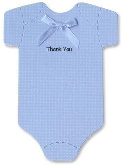 Baby Thank-you Cards - Blue Onesies