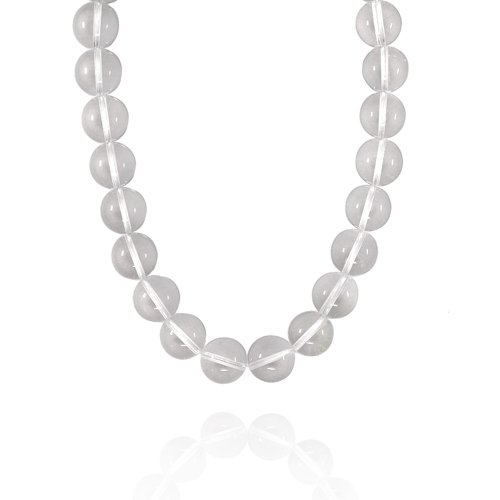 16mm Round Crystal Bead Necklace, 18+2