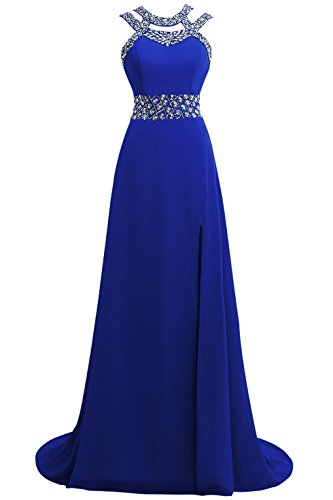 Queenmore Women´s Cross Beading Long Cocktail Party Prom Evening Dress Long US16 Royal Blue