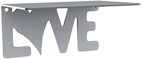 Bolis Italia AA3H014AA2F1 - Mensola Love in acciaio, 18 x 14 x 9 cm, argento