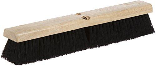"Carlisle 3621921803 Flo-Pac Hardwood Block Floor Sweep, Tampico Bristles, 18"" Block Size, 2-1/2"" Bristle Trim, Black front-289084"