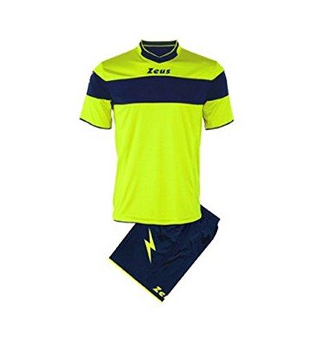 zeus-maglia-pantaloncino-calcio-kit-apollo-colore-giallo-fluo-blu-taglia-3xs