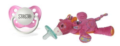 "Wubbanub Jasmine Giraffe Infant Pacifier With ""Xoxo"" Pacifier front-588170"