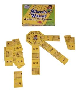"Learning Advantage 4523 ""Where's Wilson?"" Game, Grade: 5, 6.5"" Height, 1.5"" Width, 4"" Length - 1"