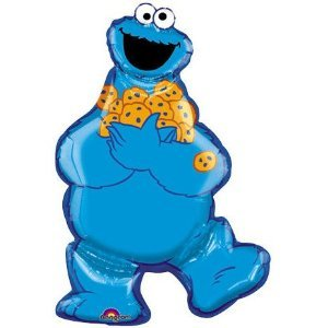 Anagram International 796401 Cookie Monster Shape Foil Balloon Pack, 31""