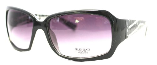 Ellen Tracy Sunglass Green Plastic Modified Rectangle, Gradi