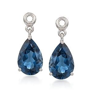 4.80 ct. t.w. London Blue Topaz Earring Jackets in Sterling Silver