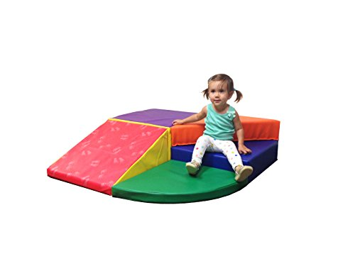 ECR4Kids SoftZone Tiny Twisting Foam Climber Playset, Assorted