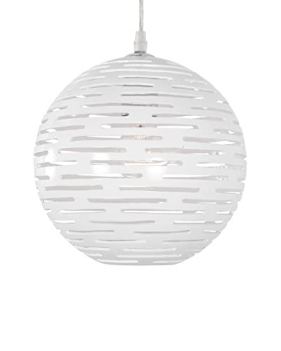 Varaluz Dashing 1-Light Sphere Mini Pendant, White