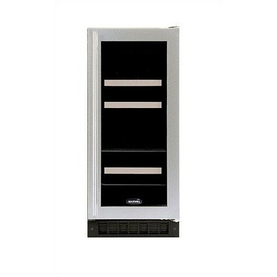 Luxury Dual-Zone 60-Can Beverage And 4-Bottle Wine Refrigerator In Stainless Steel Door: White, Hinge: Left front-594545