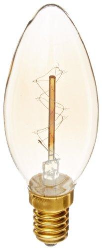 Heirlume Hl-8340Wpack1 Vintage Edison Bulb 40-Watt With E14 Base, 1.4-Inch X 3.8-Inch, 1-Pack