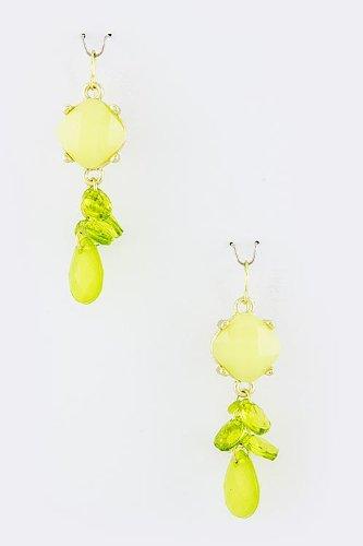 Karmas Canvas Jewel Bundle Drop Earrings (Lime)
