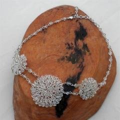Hand-Crafted Baby's Breath Flower Necklace from India