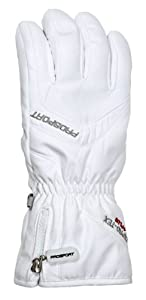 Prosport Womens Finger Ski Gloves - 6.5, White