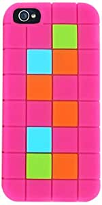 Cell Armor IPhone5-NOV-F12-MA Hybrid Novelty Case for iPhone 5 - Retail Packaging - Magenta with Colorful Squares...