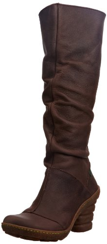 El Naturalista Womens Dome Brown Slouch Boots N772 8 UK, 41 EU