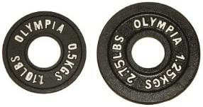 Black Olympic Plate- 05kg 125kg 1 pair each