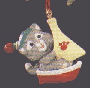 Kittens in Toyland: Sailboat Miniature 1990 Hallmark Keepsake Ornament QXM5736
