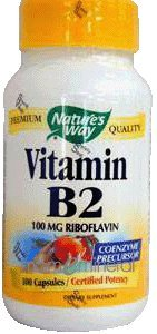 Vitamin B-2 100 mg 100 Capsules by Nature's Way