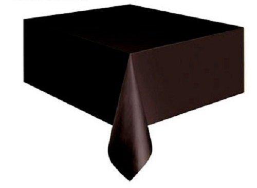 """Plastic Tablecloth, 108"""" x 54"""". BLACK - 1"""