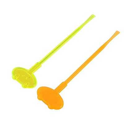 sourcingmap® Plastic Frog Shape Fluorescent Ear Wax Removal Tool Cleaner Earpick 2pcs
