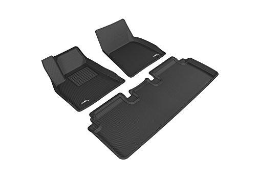 3D MAXpider L1TL00001509 Complete Set Custom Fit All-Weather Floor Mat for Select Tesla Model S Models - Kagu Rubber (Black) (Tesla Model S Floor Mat compare prices)