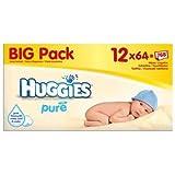 Huggies Pure Wipes Big Pack 12 x 64 per pack