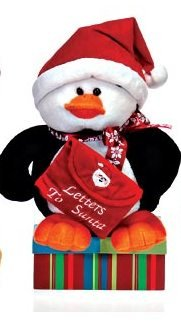 "Fiesta Toys - 10"" Sitting Penguin - Letters to Santa"