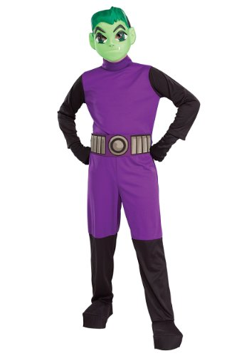 [Big Boys' Titans Beast Boy Costume Large by Rubie's] (Big Boy Costumes)