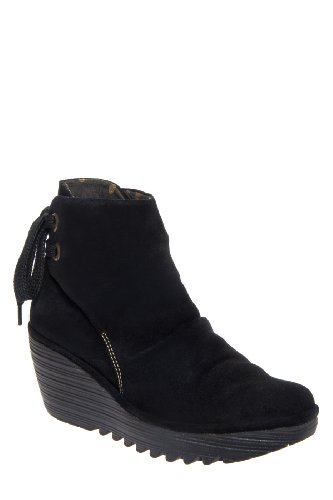 Fly London Yama Mid Wedge Bootie