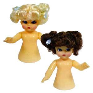 Air Freshener Dolls - Set of Two Dolls - One Blond and One Brown Hair