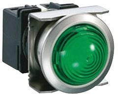 """Idec Corporation Lb6Mp-2T04G Indicator, Pilot Light; 24Vdc; 18.2Mm; Dome Lens; Rnd Flush Bzl; Qc Tab; Grn18.2Mm Mnt"""