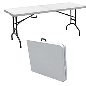 Palm springs 6 39 portable plastic banquet table - Table de reception pliante pas cher ...