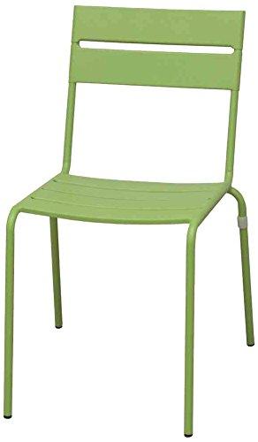 Siena Mybalconia 255053 Maui Stapel-Sessel, matt grün Stahlgestell matt grün