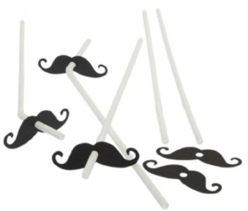 Best Price 72 Mustache Straws - Bulk Pack