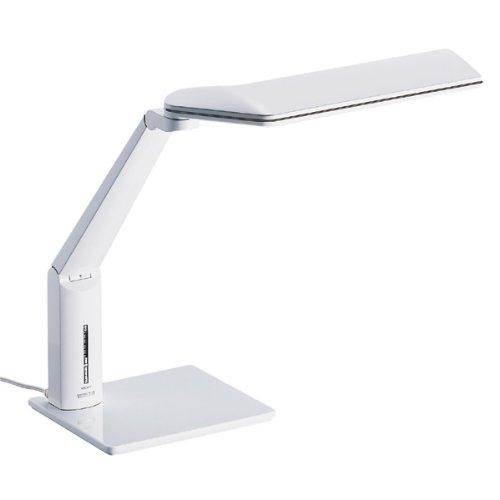 TWINBIRD 5段階調光機能付き LEDデスクライト ホワイト LE-H615W