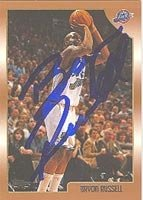 Bryon Russell Utah Jazz 1999 Topps Autographed Hand Signed Trading Card - Nice... by Hall of Fame Memorabilia