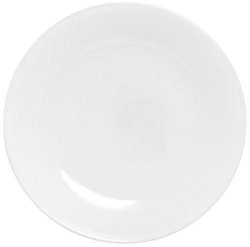 Corelle Livingware Luncheon Plate, Winter Frost White, Size: 8-1/2-Inch (6 Plates)