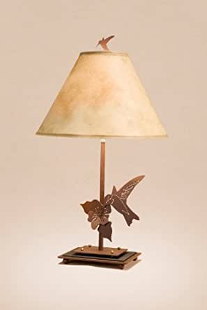 Rustic Humming Bird Table and Desk Lamp - 23 inches ...