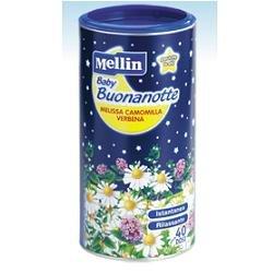 Mellin Baby Buonanotte Bevanda Istantanea con Miscela di Erbe, Verbena, Camomilla e Melissa - 200 gr
