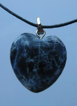 Hand Made Sodalite Semi Precious Stone Heart Pendant - 20mm