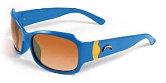 NFL San Diego Chargers Bombshell Sunglasses with Bag, Blue Yellow by Maxx