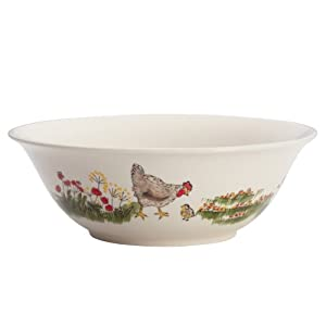 Paula Deen Signature Dinnerware Southern Rooster Collection 10-Inch Serving Bowl