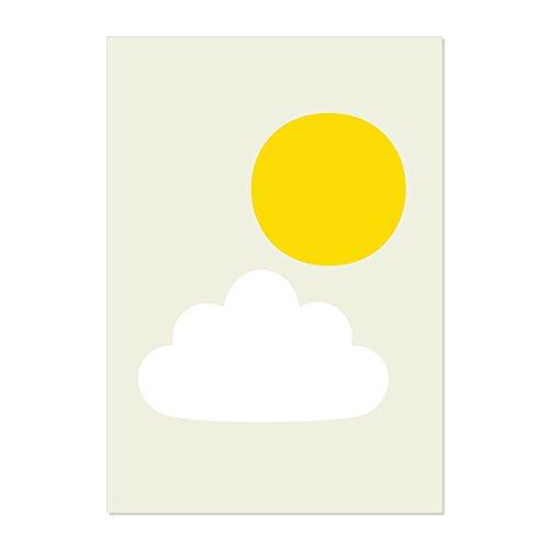 chip-de-little-sun-y-nubes-pegatinas-de-pared-color-blanco