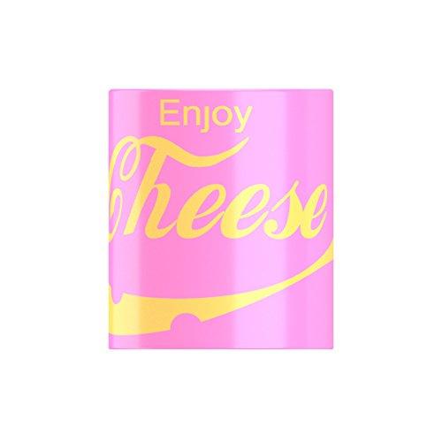 Enjoy formaggio famoso bevande, divertente Dairy Loving Tazza Da Ice-Tees, Pink, Etichettalia unica