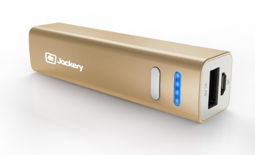 (ジャクリ) Jackery Mini プレミアム 超小型 アルミ筐体 モバイルバッテリー 3200mAh 大容量かつコンパクト 急速充電可能 パワーバンク Apple iPhone 5S/5C/5/4S/iPad/Air/Mini/Samsung Galaxy S4/S3/Note/Nexus/LG/HTC/Motorola 等対応 (ゴールド)