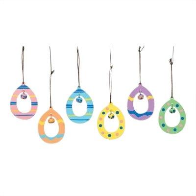 12 Metal Easter Egg Ornaments