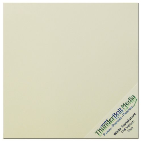 White Transulcent Vellum Paper 150 Sheets Scrapbook 