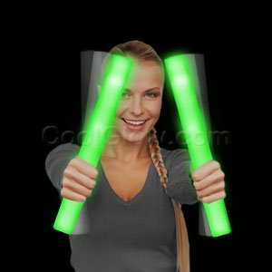Fun Central G29 LED Light Up Foam Stick Baton Supreme - Green - 1